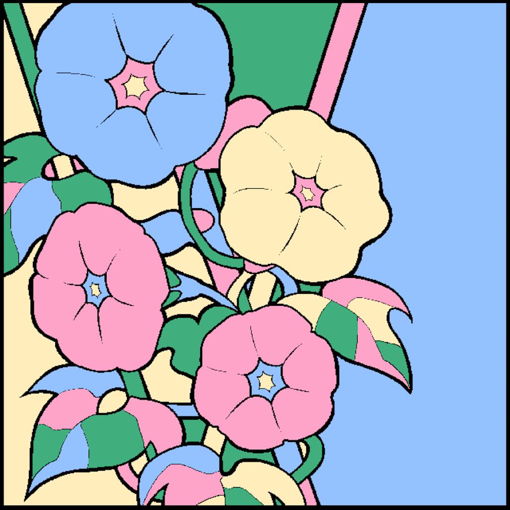 No3 朝顔 大人の塗り絵パズル保存庫