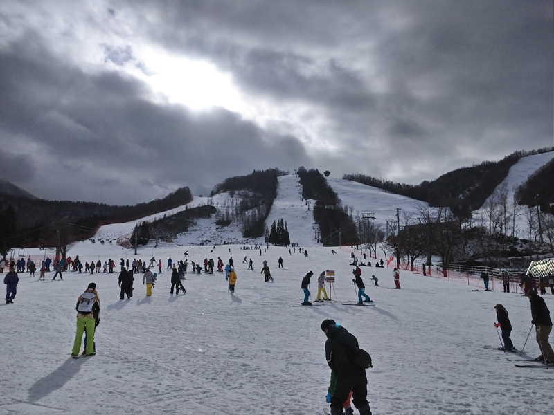 平 き 場 の ほお スキー