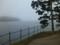 霧で見渡せない