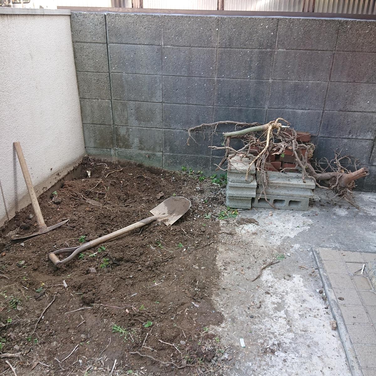 築古戸建 庭の整地 DIY
