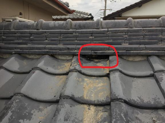 築古戸建 雨漏れ 屋根修理 瓦修理