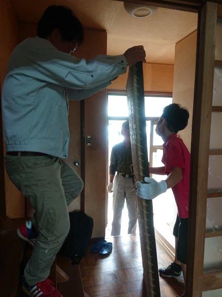築古戸建DIY 和室の洋室化 子供も手伝う