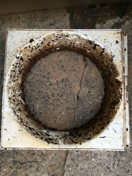 築古戸建 何年分もの油が蓄積された換気扇