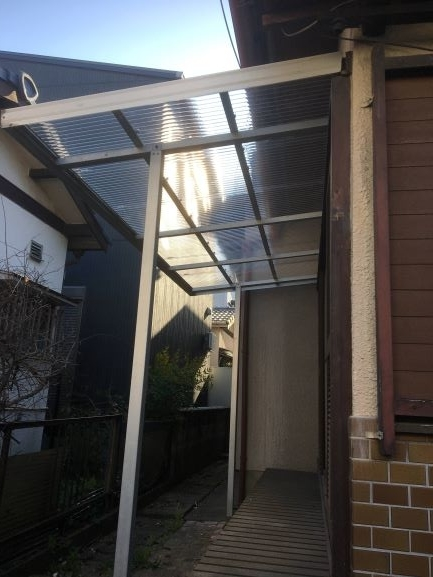 築古戸建 波板 トタン屋根 DIY修繕 仕上がり