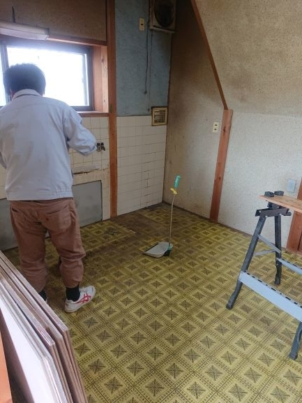 築古戸建 床の補強 DIY