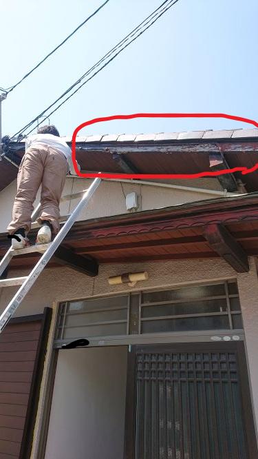 軒下をDIY塗装する