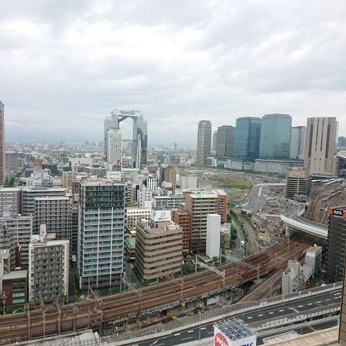 ホテル阪神大阪 22階客室からの眺め