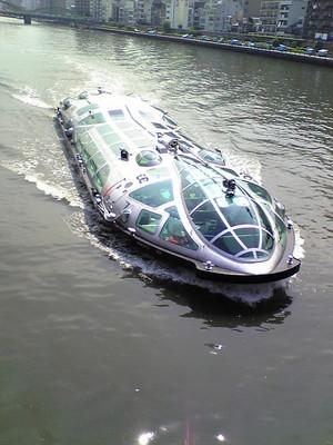 松本零士デザインの水上バス、ヒミコ
