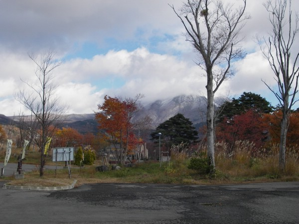 磐梯山は雪化粧