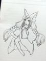 アナログ、狐娘の紫陽花ちゃん