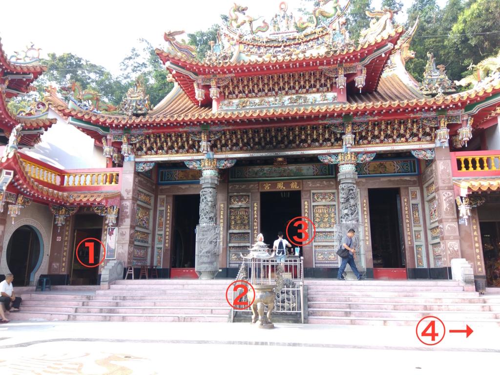 龍鳳宮月老廟の境内写真