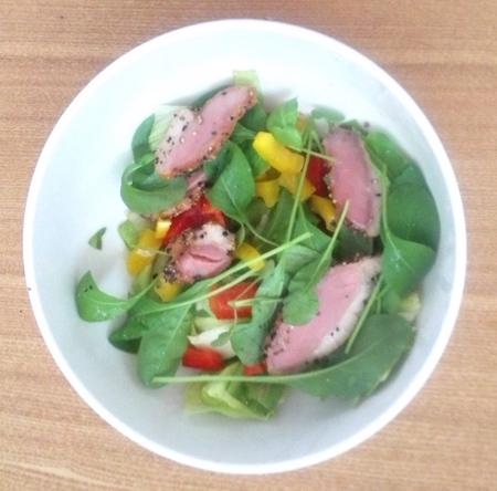 合鴨ロース-サラダ