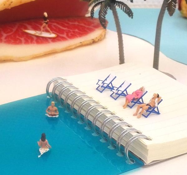 ノートで海
