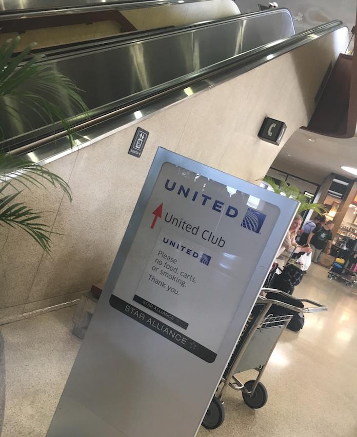 ユナイテッドクラブ-ANA-受付-honolulu-空港