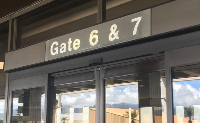 6番ゲート-honolulu-空港