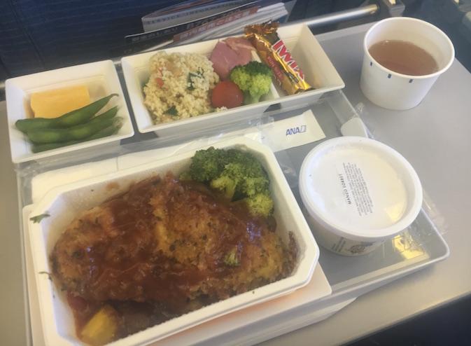 機内食-洋食-ANA-honolulu-空港