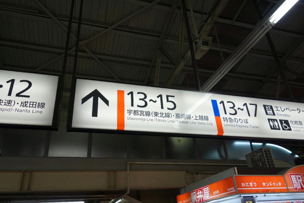 上野駅中央改札口付近の乗り場案内