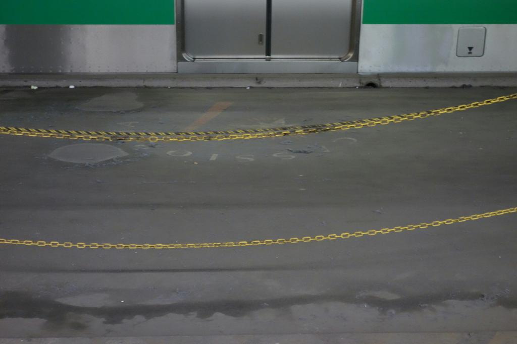 荷物通路に描かれるカシオペアヘッドマーク