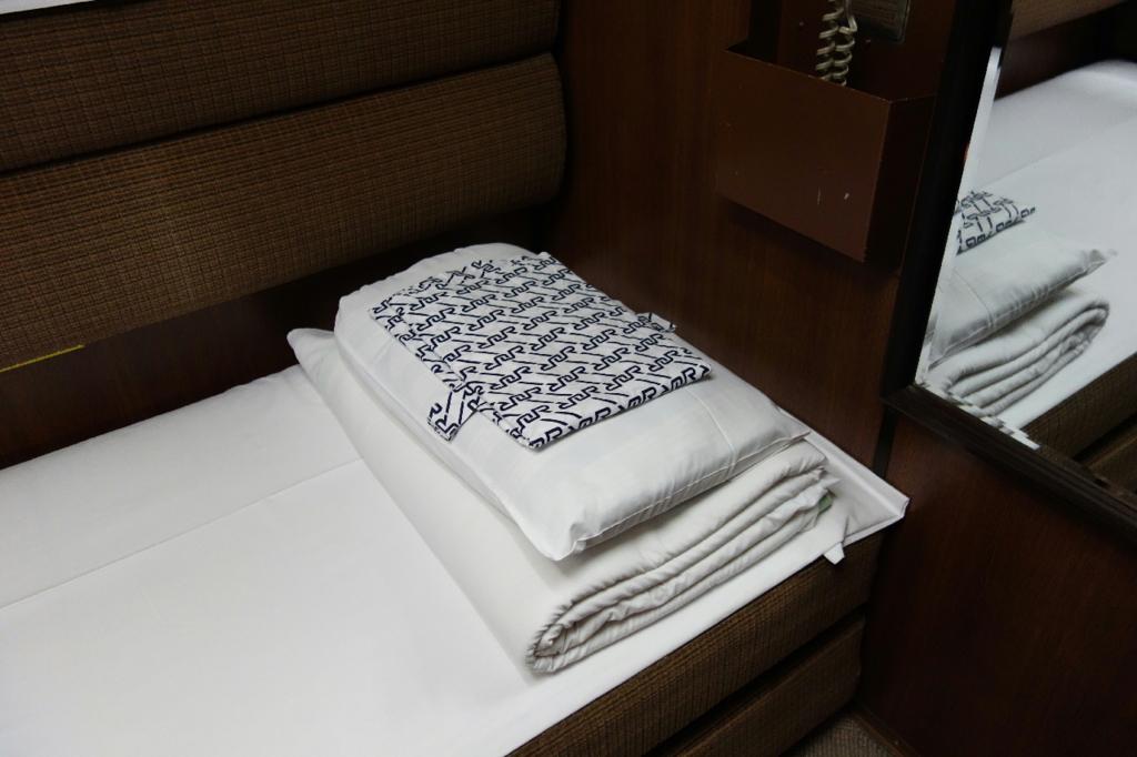 北斗星9号車A寝台個室ロイヤルの寝具類
