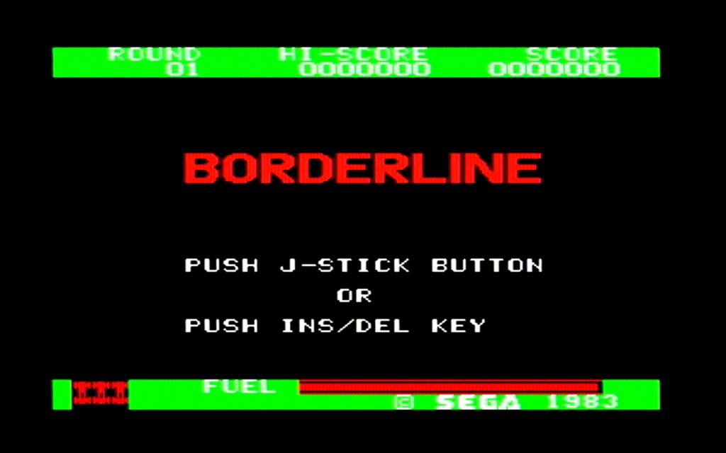 ボーダーラインのタイトル画面