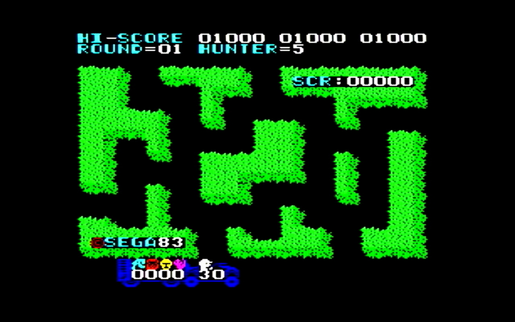 サファリハンティングのゲーム画面
