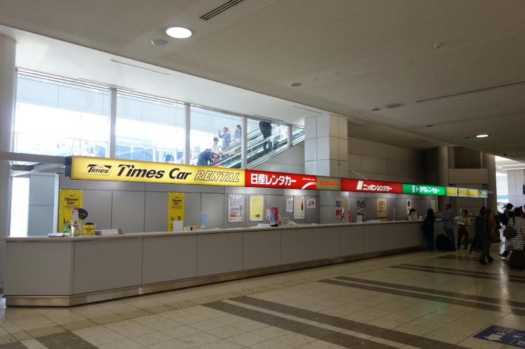 仙台国際空港ターミナルビル1階の商業施設(レンタカー)