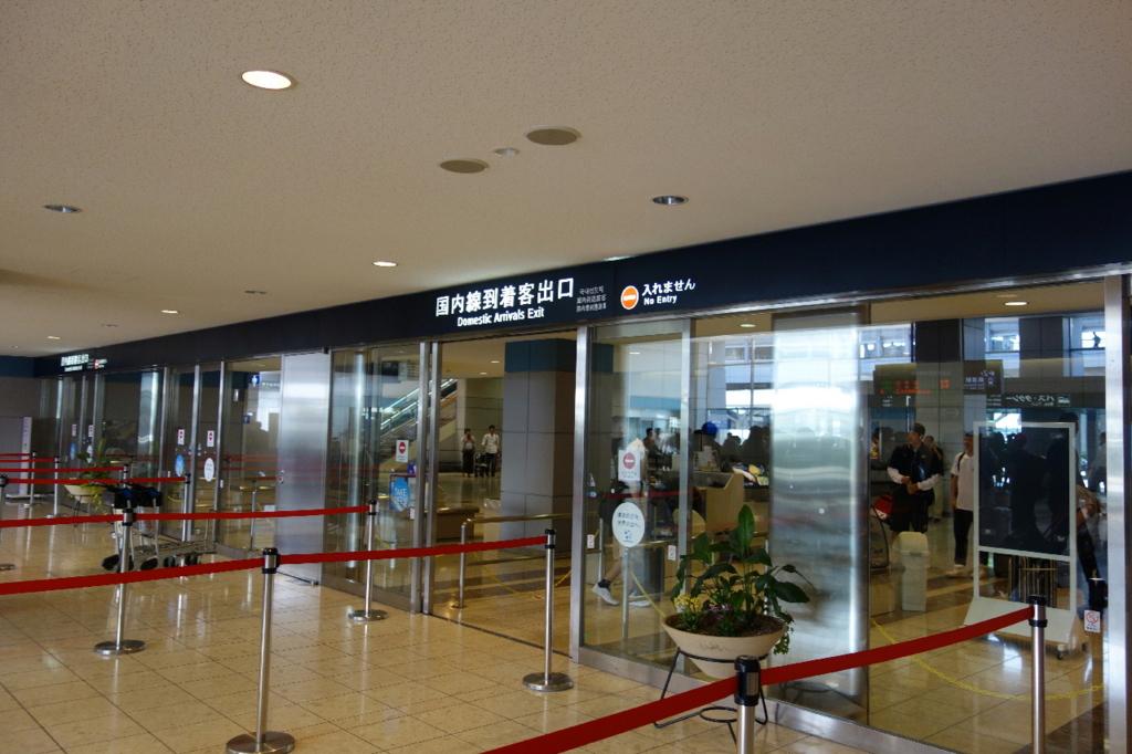 仙台国際空港ターミナルビル1階の国内線到着ロビー