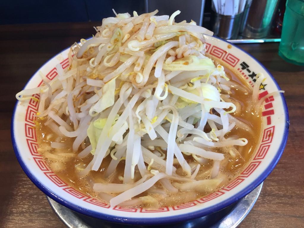 ラーメンビリー多賀城店のラーメン(野菜増しにんにく抜き)