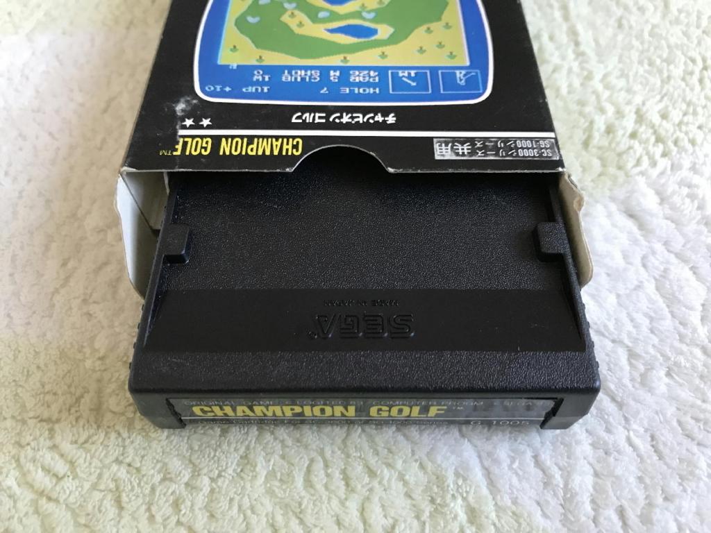 チャンピオンゴルフの外箱(上面)