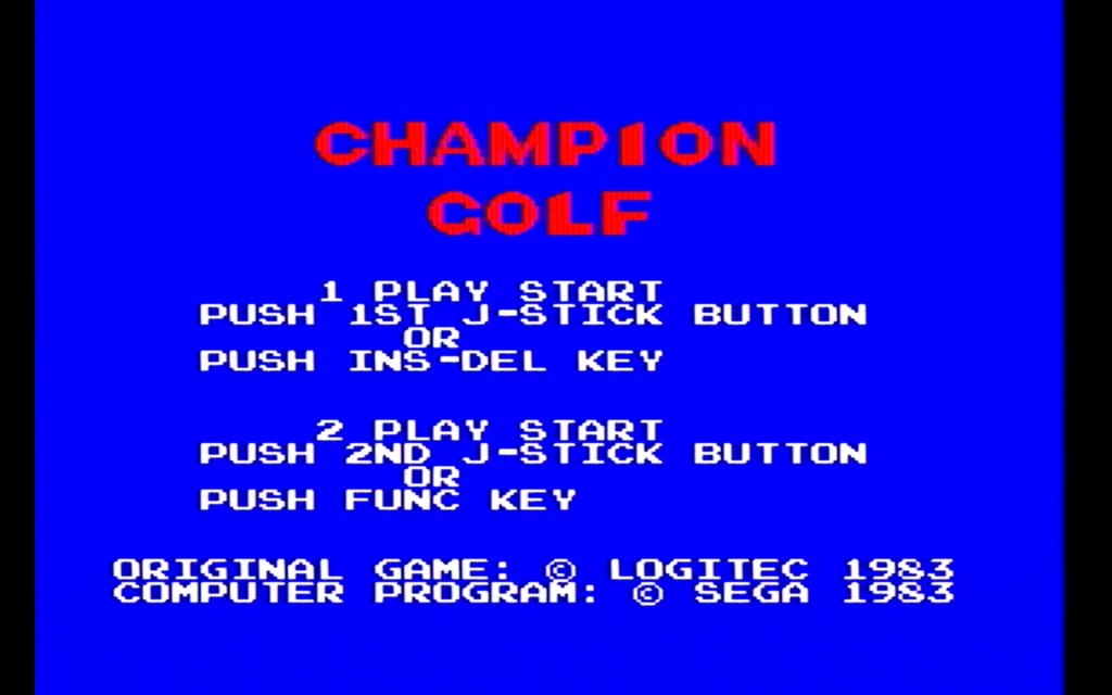 チャンピオンゴルフのタイトル画面