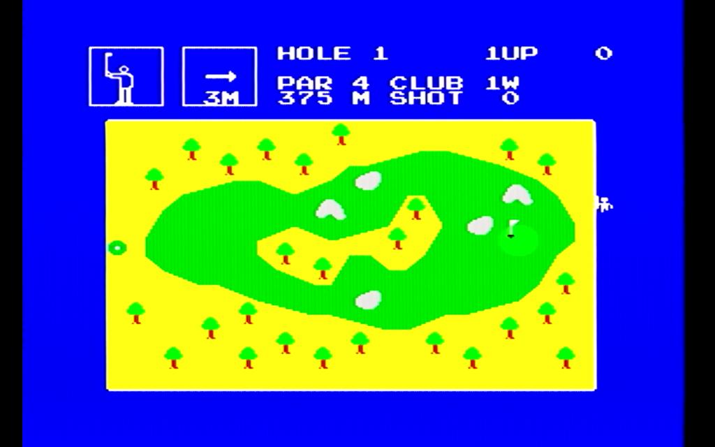 チャンピオンゴルフのゲーム画面(ホール)