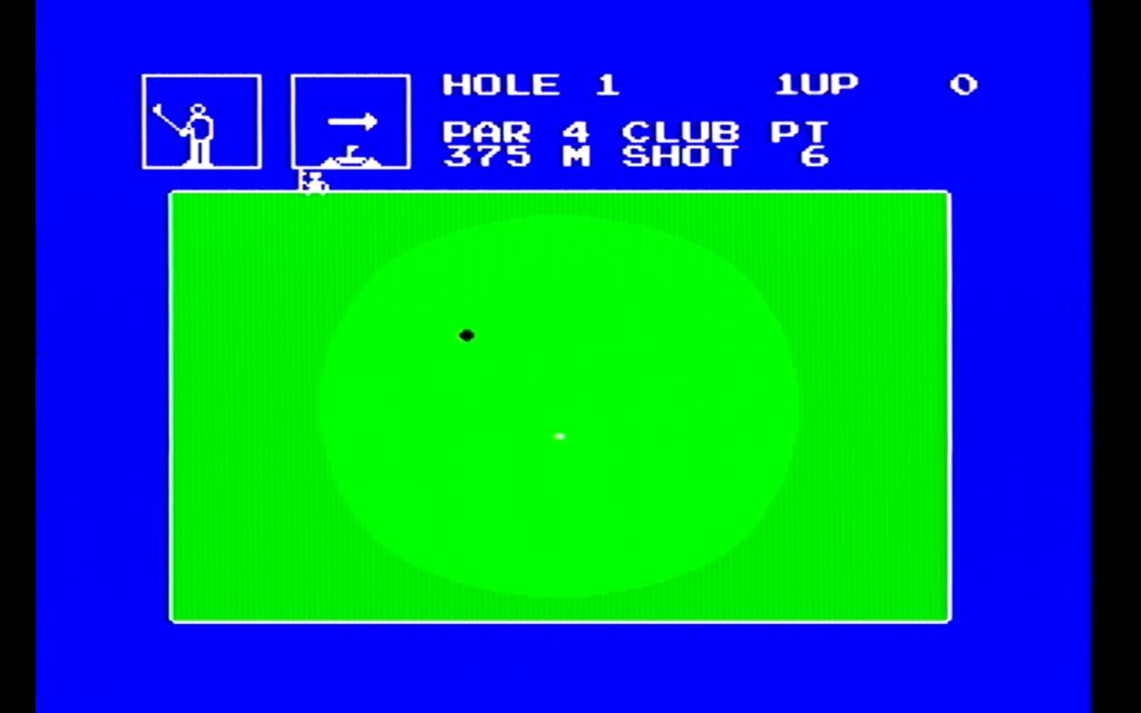チャンピオンゴルフのゲーム画面(グリーン)