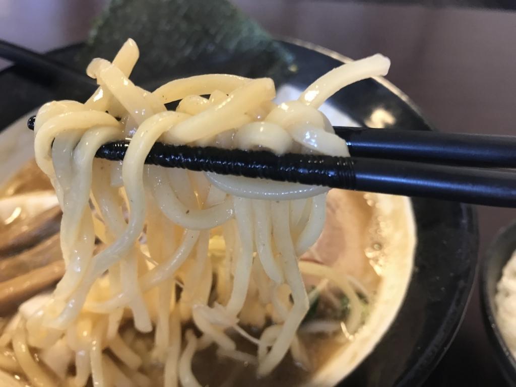ラーメンスミスの味玉ニボ味噌らーめん(中太麺)
