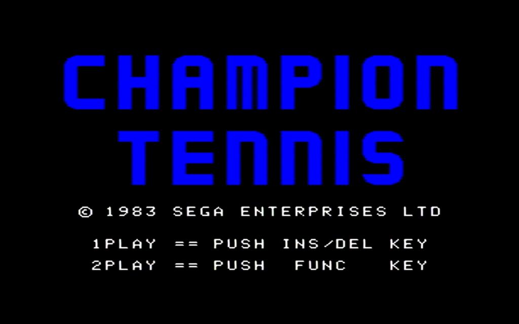 チャンピオンテニスのタイトル画面