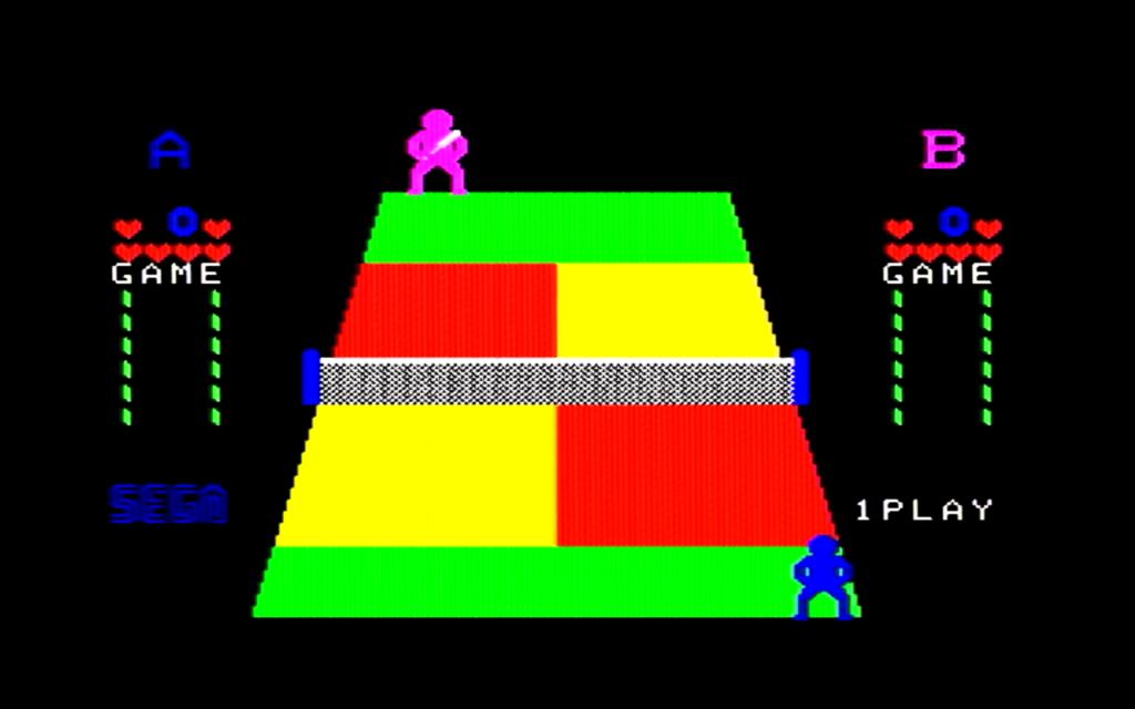 チャンピオンテニスのゲーム画面(ゲーム開始)
