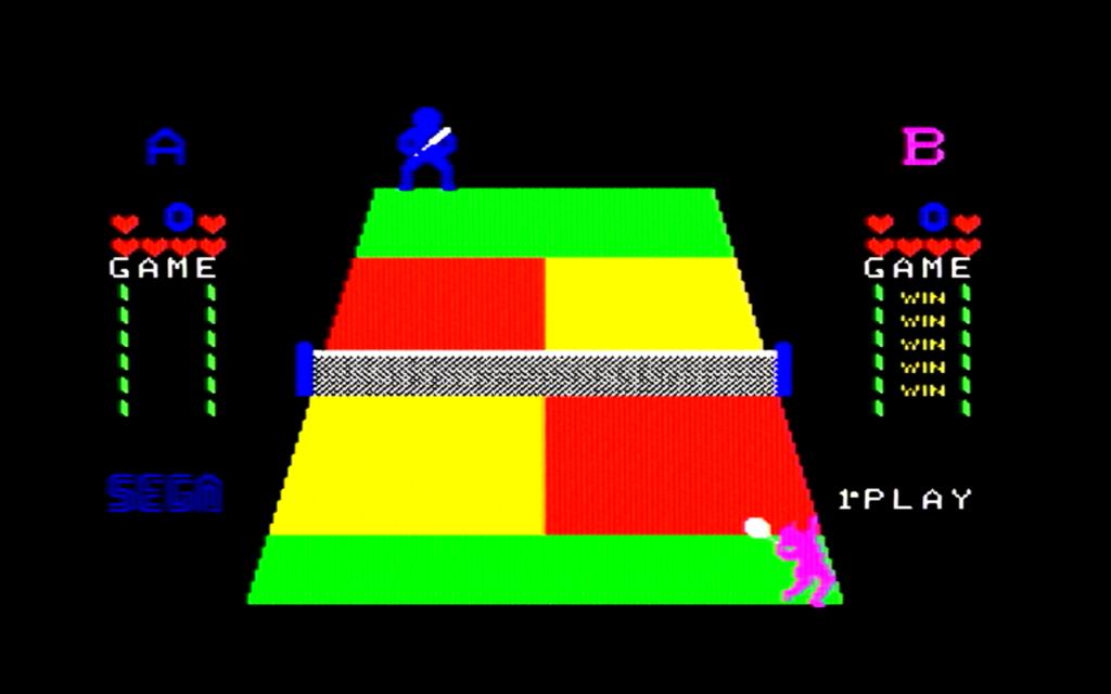 チャンピオンテニスのゲーム画面(ゲーム中盤)