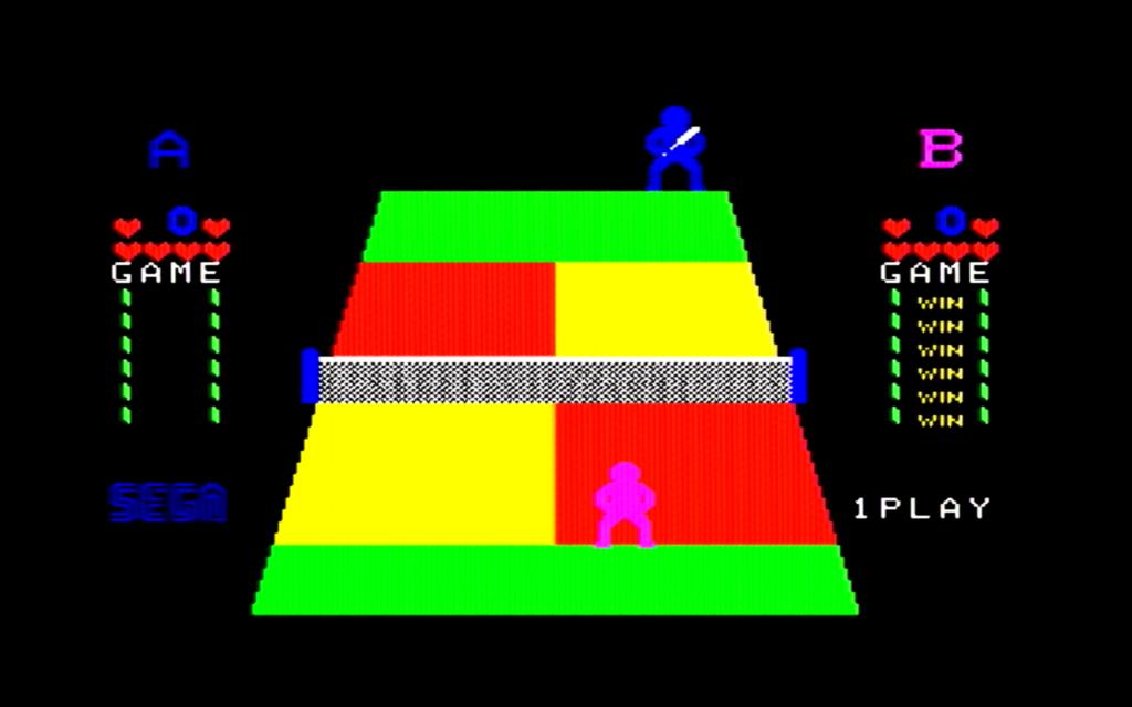チャンピオンテニスのゲーム画面(ゲーム終了)