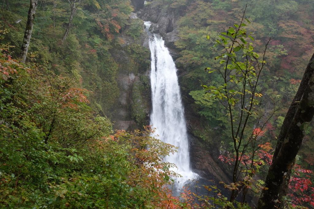 滝見台から見る秋保大滝(全景)