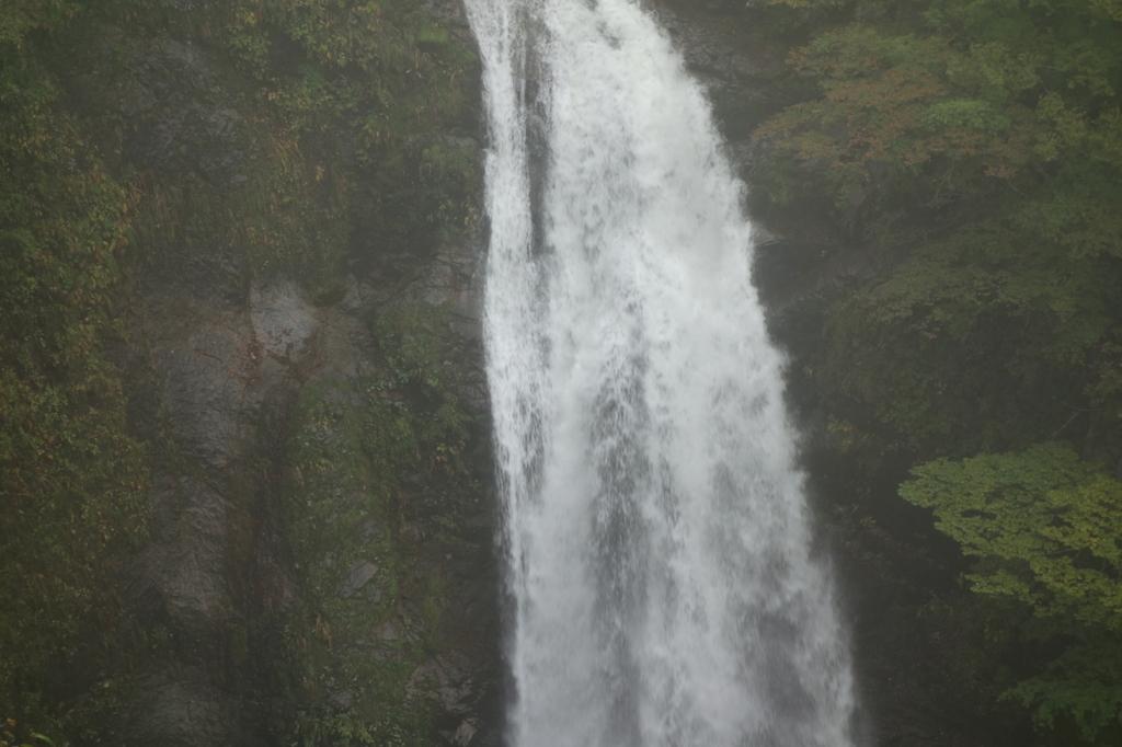 滝見台から見る秋保大滝(中部)