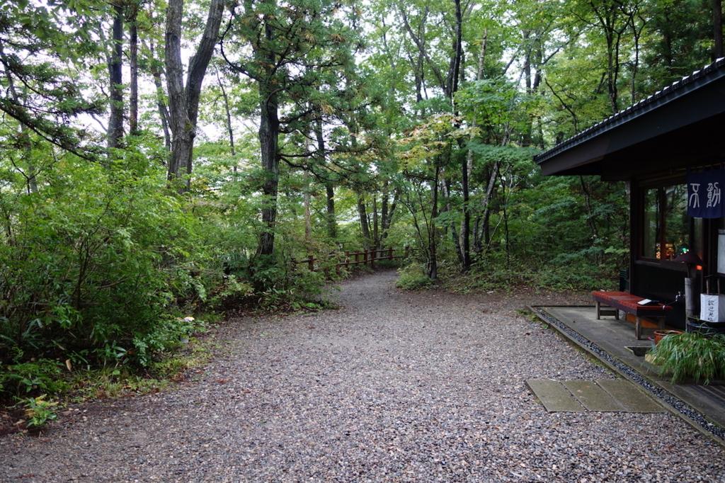 秋保大滝滝壺への道