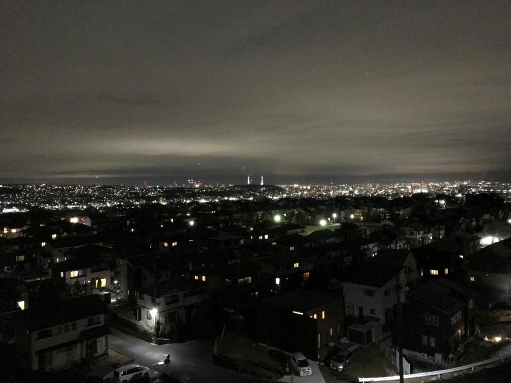 2017年12月31日の管理人自宅付近からの夜景