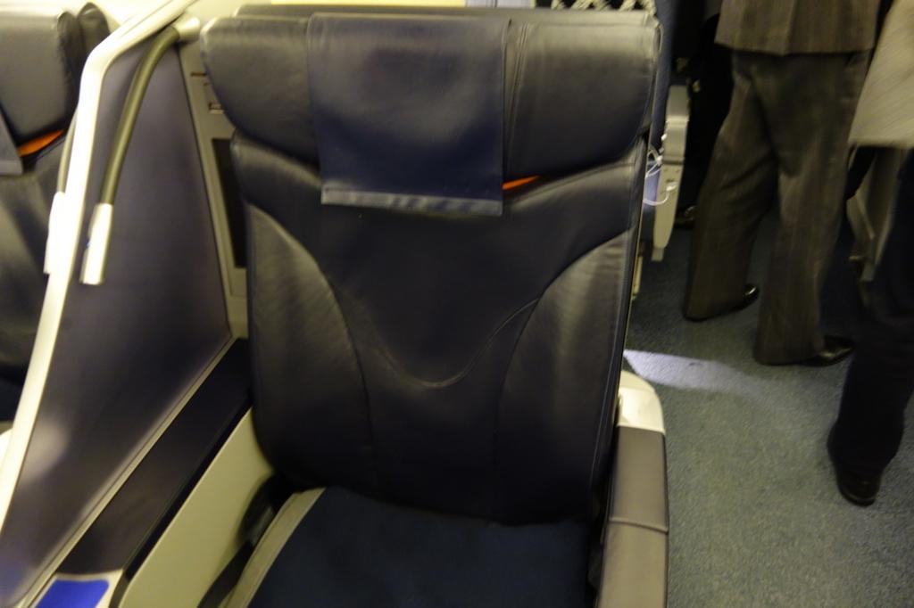 ANA740便のプレミアムクラスのシート(平成30年1月18日)