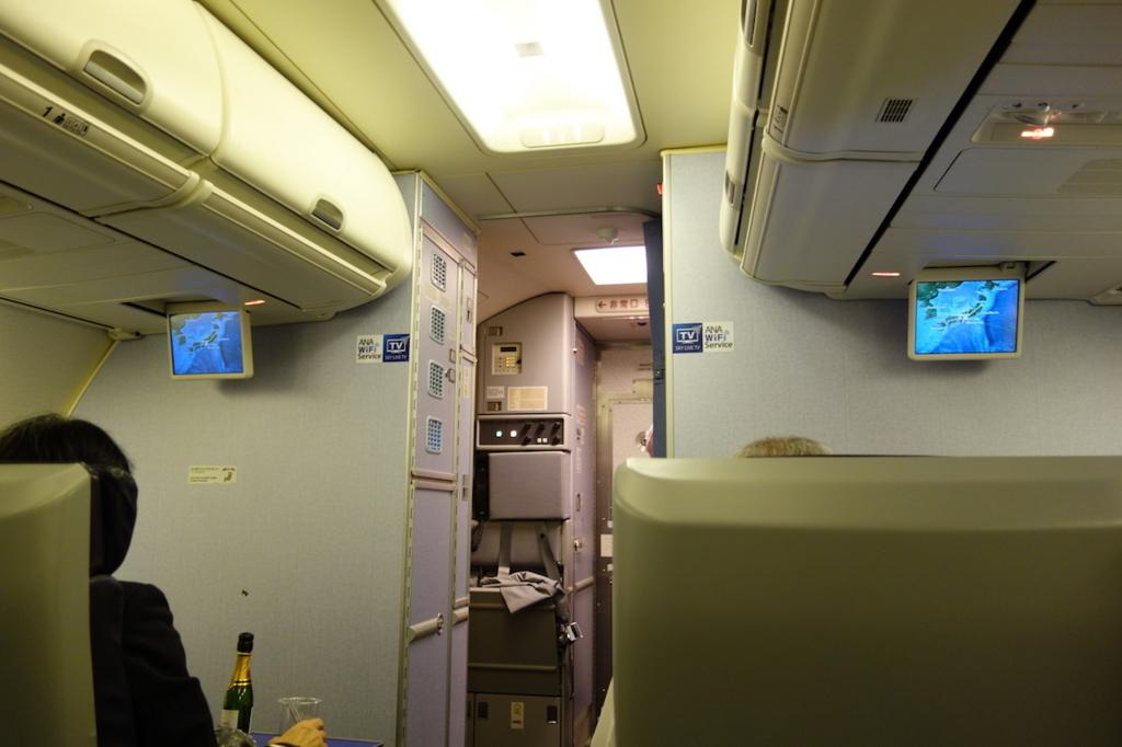ANA740便のプレミアムクラス(平成30年1月18日)