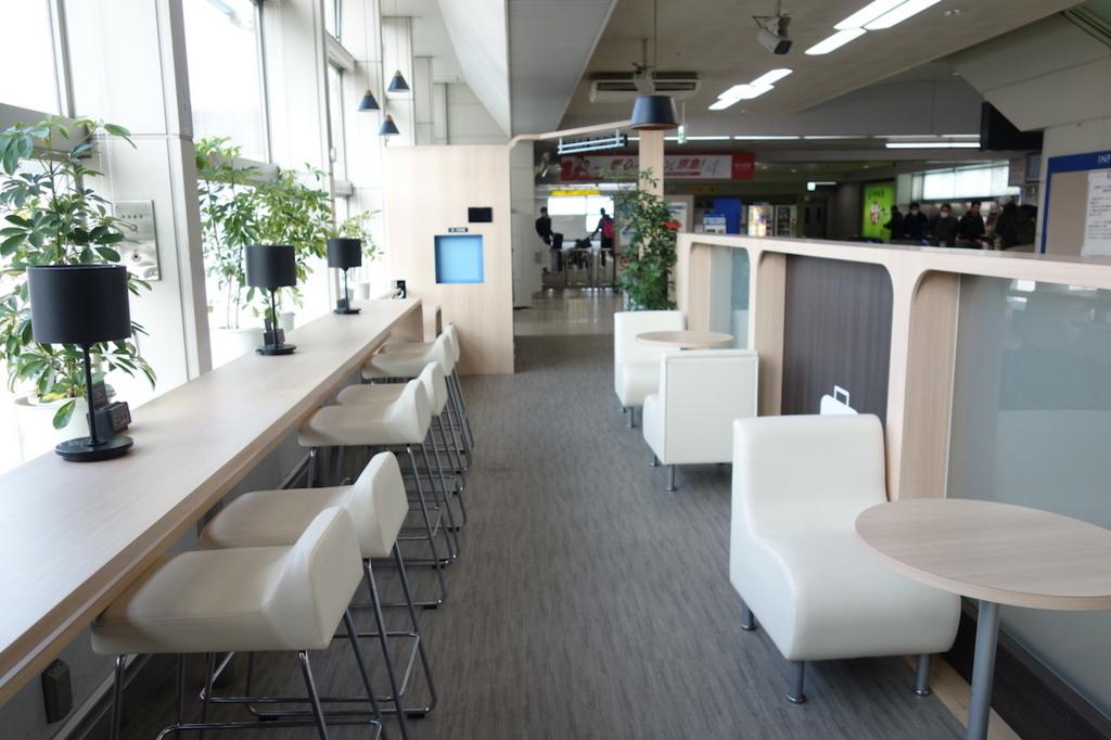 大阪モノレールの大阪空港駅(休憩スペース)