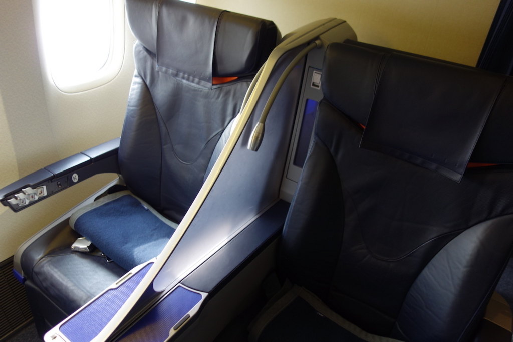 ANA765便のプレミアムクラスシート(平成30年1月19日)