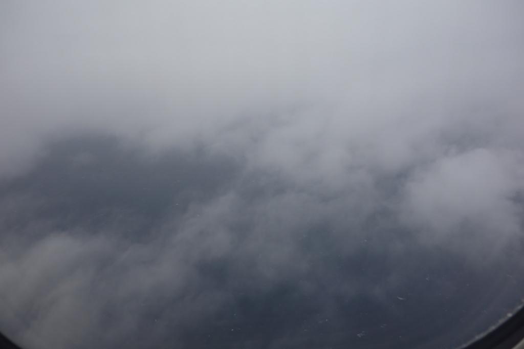 ANA1864便から見た厚い雲(平成30年1月19日)