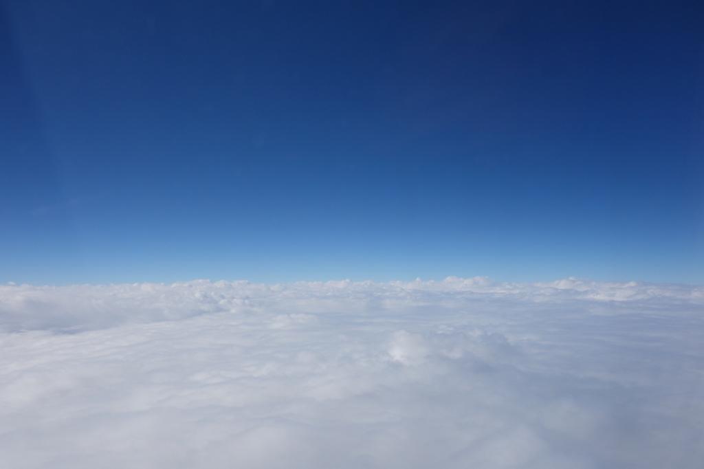 ANA1864便から見た果てしなく続く雲海(平成30年1月19日)