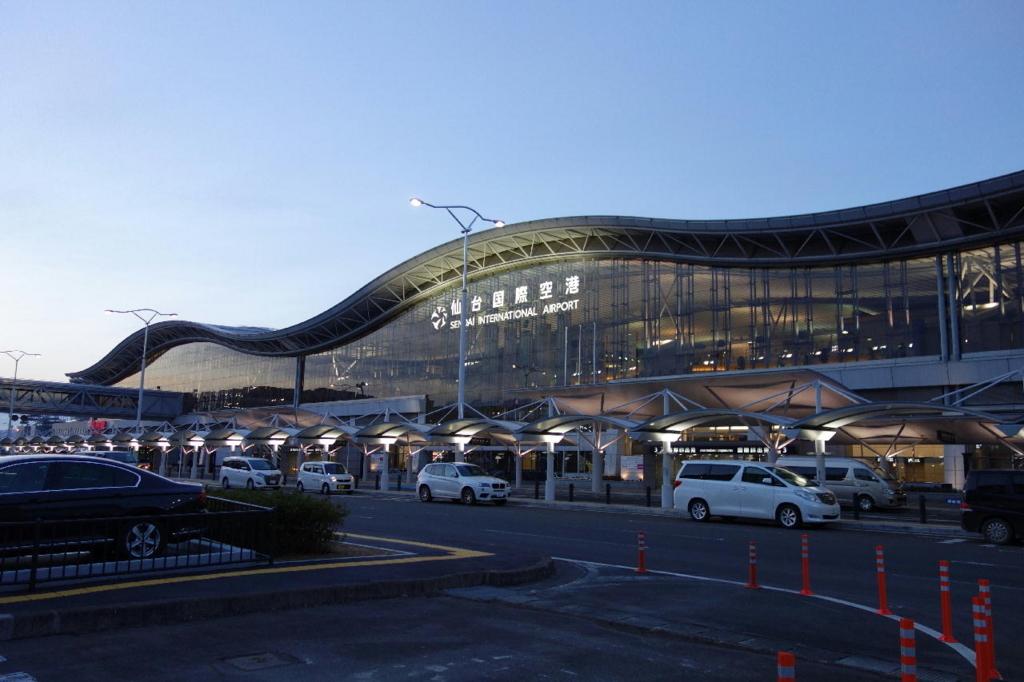 夕暮れ時の仙台国際空港(平成30年1月19日)
