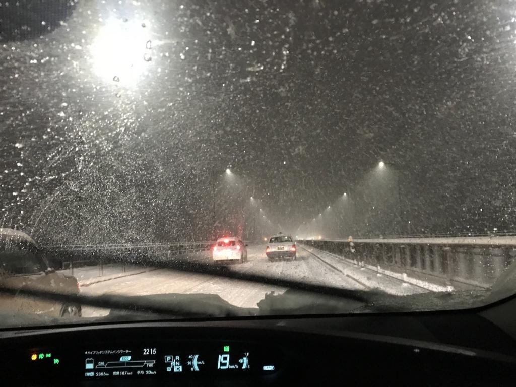 プリウス車内から見た太白大橋