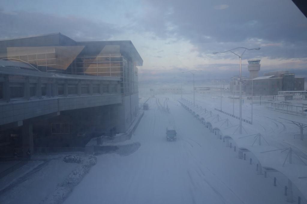 雪景色の仙台国際空港(平成30年1月23日)